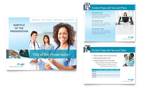 Medical Billing & Coding PowerPoint Presentation Template - Microsoft Office