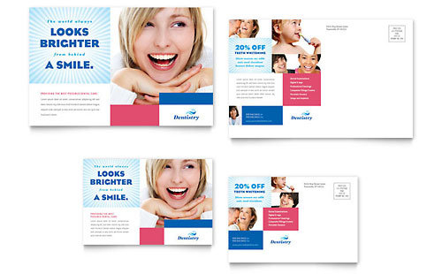 Family Dentistry Postcard - Microsoft Office Template