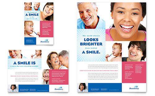 Family Dentistry Flyer & Ad Template - Microsoft Office
