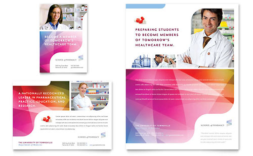 Pharmacy School Flyer & Ad Template - Microsoft Office