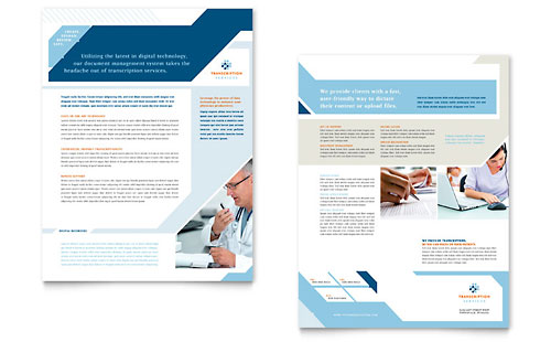 Medical Transcription Datasheet Template Design