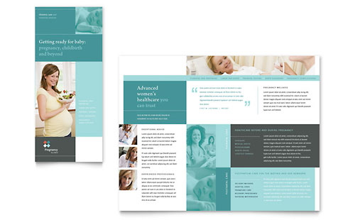 Pregnancy Clinic Tri Fold Brochure - Microsoft Office Template
