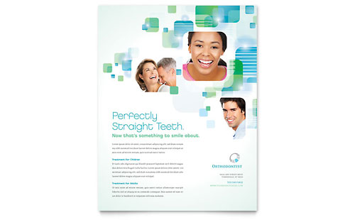Orthodontist Flyer - Microsoft Office Template