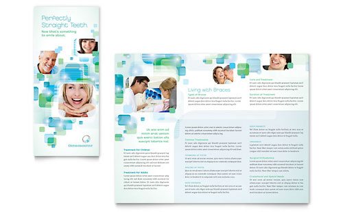 Orthodontist Tri Fold Brochure - Microsoft Office Template