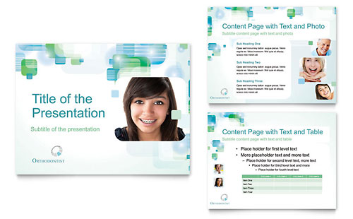 Orthodontist PowerPoint Presentation Template - Microsoft Office