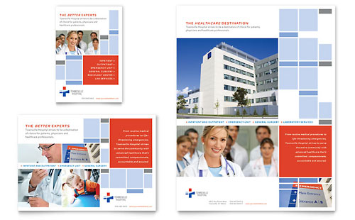 Hospital Flyer & Ad - Word Template & Publisher Template