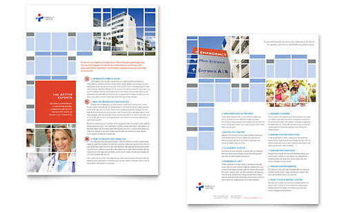 Hospital Datasheet - Microsoft Office Template