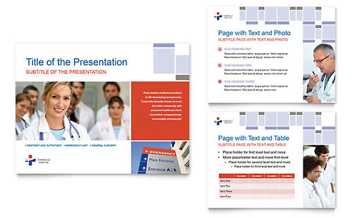 Hospital - Sample PowerPoint Presentation Template - Word & Publisher