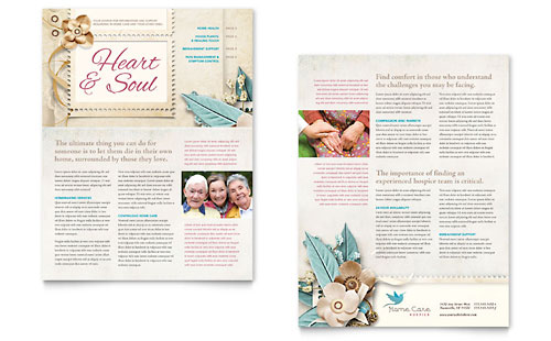 Hospice & Home Care Newsletter Template Design