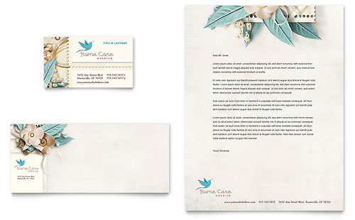 Hospice & Home Care Business Card & Letterhead - Microsoft Office Template