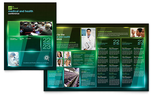 Medical Conference Brochure Template - Microsoft Office