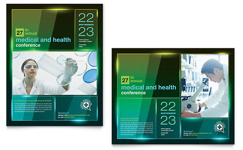 Medical Conference Poster Template Design