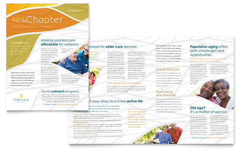 Assisted Living Newsletter - Microsoft Office Template