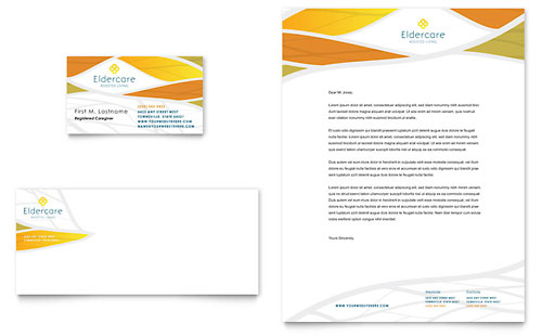 Assisted Living Business Card & Letterhead - Microsoft Office Template