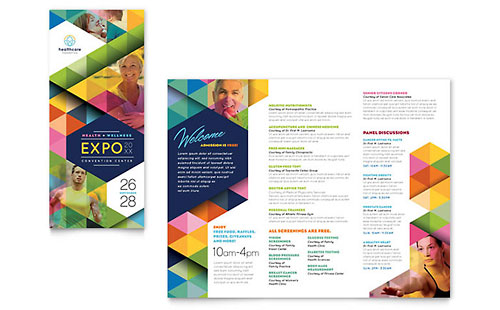 Health Fair Tri Fold Brochure Template - Microsoft Office