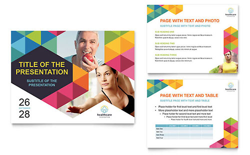 Health Fair - Sample PowerPoint Presentation Template - Word & Publisher