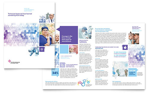 Cancer Treatment Brochure - Microsoft Office Template