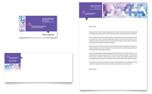 Cancer Treatment Business Card & Letterhead - Microsoft Office Template
