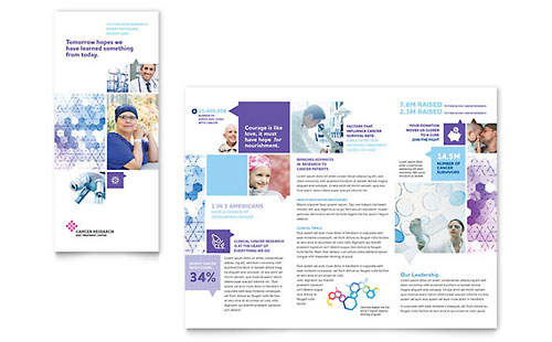 Cancer Treatment Tri Fold Brochure - Microsoft Office Template