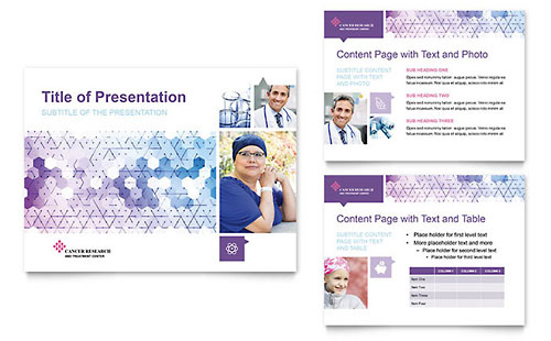 Cancer Treatment - Sample PowerPoint Presentation Template - Word & Publisher