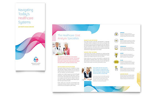 Insurance Consulting Tri Fold Brochure - Microsoft Office Template