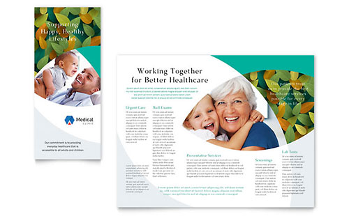 Doctors Office - Sample Pamphlet Template - Word & Publisher