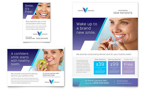 Dentist Flyer & Ad Template - Microsoft Office
