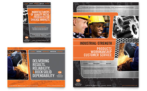 Manufacturing Engineering Flyer & Ad Template - Microsoft Office