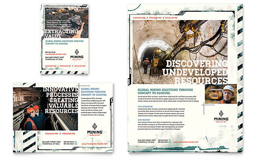 Mining Company Ad Template - Word & Publisher