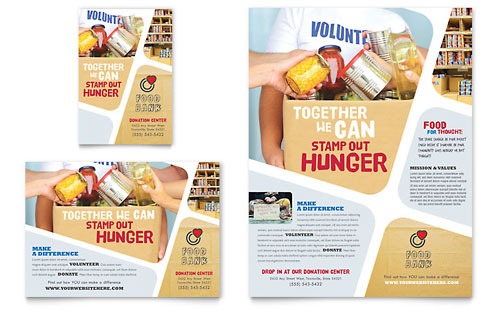 Food Bank Volunteer Flyer & Ad - Microsoft Office Template