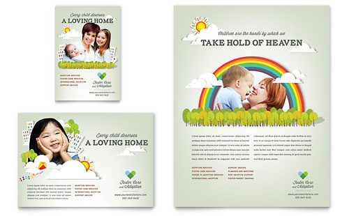 Foster Care & Adoption Flyer & Ad Template - Microsoft Office