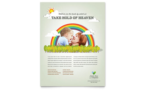 Foster Care & Adoption Flyer Template - Microsoft Office