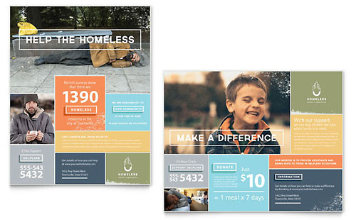 Homeless Shelter Poster - Microsoft Office Template