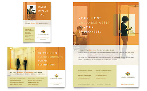HR Consulting Flyer & Ad Template - Microsoft Office
