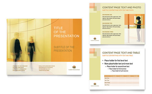human resources - presentation templates