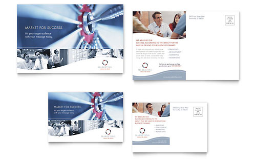 Marketing Consulting Group Postcard - Microsoft Office Template