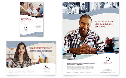 Marketing Consulting Group Flyer & Ad Template - Microsoft Office