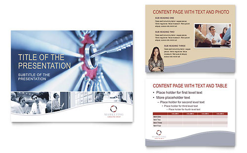 Marketing Consulting Group PowerPoint Presentation Template - Microsoft Office