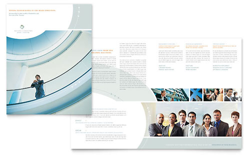 Business Consulting Brochure Template - Microsoft Office