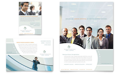 Business Consulting Flyer & Ad Template - Microsoft Office