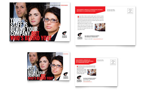 Business Executive Coach Postcard Template - Microsoft Office