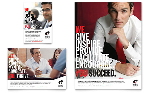 Business Executive Coach Flyer & Ad Template - Microsoft Office