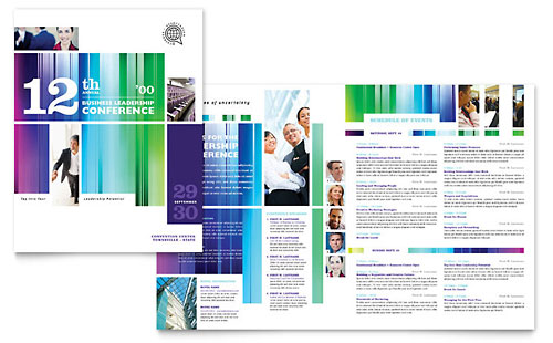 Business Leadership Conference Brochure Template - Microsoft Office