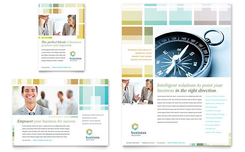 Business Solutions Consultant Flyer & Ad Template - Microsoft Office