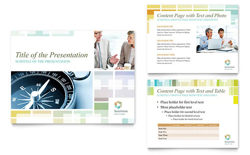Business Solutions Consultant PowerPoint Presentation Template - Microsoft Office