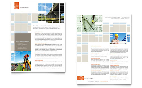 Civil Engineers Datasheet - Microsoft Office Template