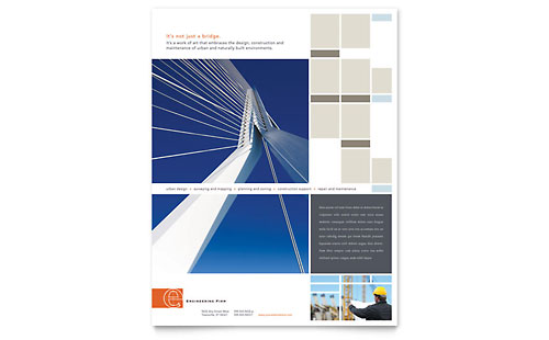 Civil Engineers Flyer - Microsoft Office Template