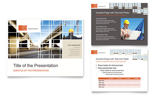 Civil Engineers PowerPoint Presentation Template - Microsoft Office