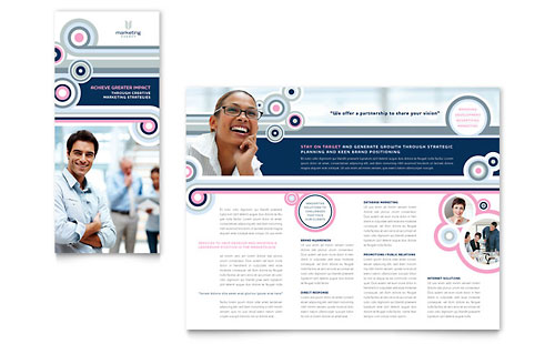 Marketing Agency Tri Fold Brochure Template Design