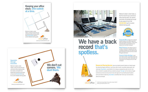 Janitorial & Office Cleaning Flyer & Ad Template - Microsoft Office